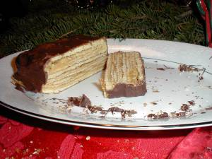 Broiled layer cake