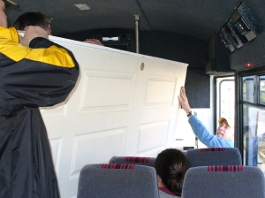 Getting a door out of a bus