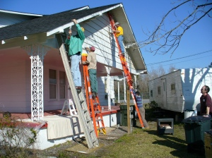 Painting the south side