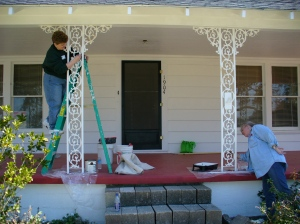 Painting the front porch