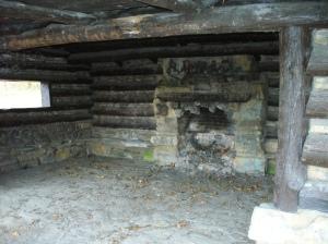 Abandoned ski shelter