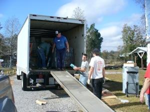 Unloading tile