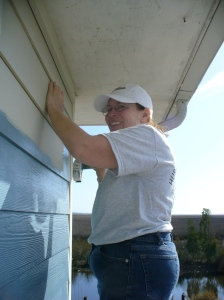 Painting porch siding