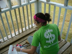 Painting back porch rail