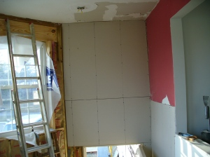 Entry drywall