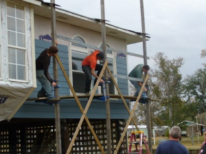 Bringing down the scaffold