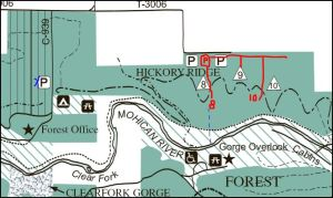 Mohican State Forest trail map