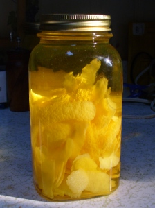 Limoncello soaking