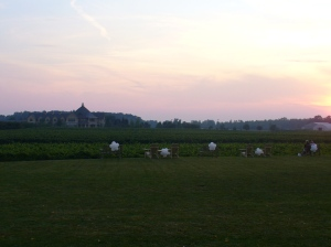 Peller at sunset from Riverbend