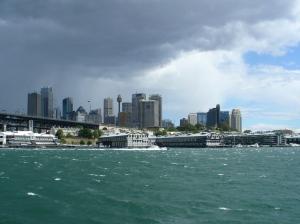 Sydney skyline and sky