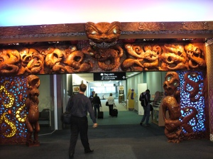 Auckland airport doorway