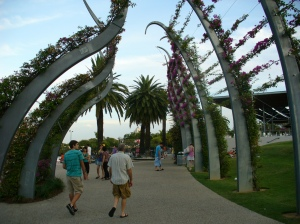 South Bank trellis walkway