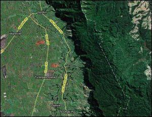 Okauia escarpment