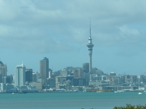 Auckland from car
