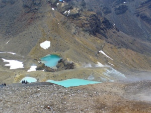 Emerald Lakes and steam