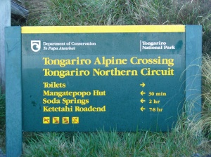 Tongariro sign