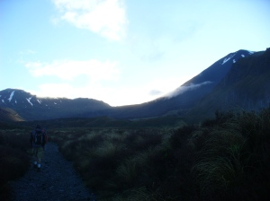 Tongariro & Ngauruhoe at sunrise