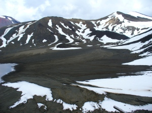 Valley of ash and snow