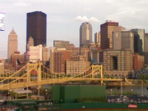 Pittsburgh skyline from PNC Park