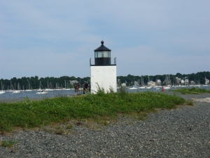 Light station at Salem Harbor