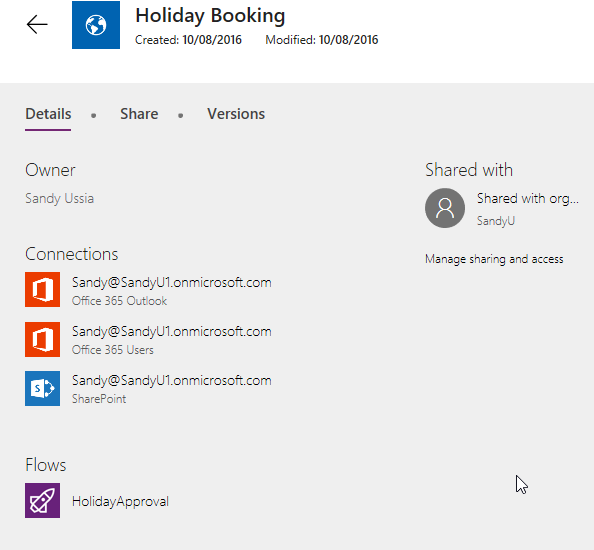 PowerApps/Flow: Deleting a Connection   Where have the days
